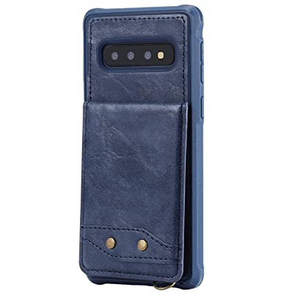 Cover for Samsung Galaxy S10 Leather Kickstand Cell Phone Cover Luxury Business Card Holders with Free Waterproof-Bag White4 Samsung Galaxy S10 Flip Case