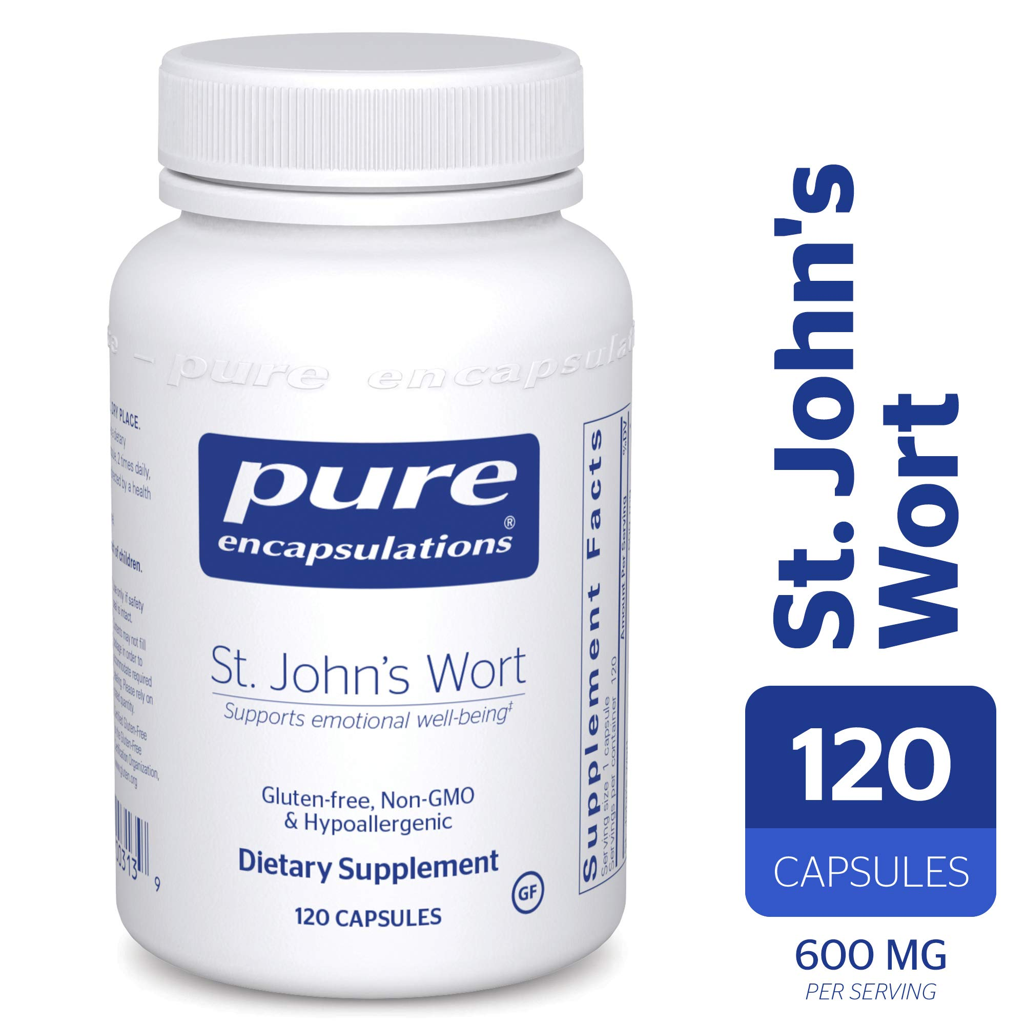 Pure Encapsulations - St. John's Wort - Hypoallergenic Supplement Promotes Emotional Well-Being* - 120 Capsules