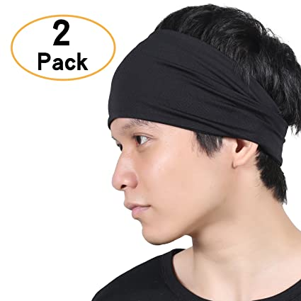 Qinglonglin Headbands for Men and Women - No Slip Sweat Wicking Turban  Elastic Fashion Multi Style Head Wrap Hair Band for Yoga Running Tennis  Sports ... 5b3f134cb7e