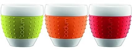 Bodum Pavina Assorted Color Porcelain 2 1/2 Ounce Espresso Cups, Get