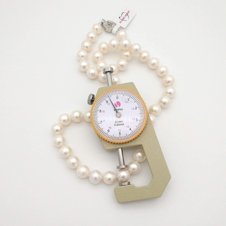 regalo per la festa della mamma,ELAINZ HEART/® 45cm AAAA collana di perle coltivate dacqua dolce con fermaglio in argento sterling 925