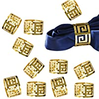 LogHog Gold Napkin Rings Set of 12,Attractive Glossy Napkin Ring Metal Buckles,Elegant Napkin Rings for Table Setting at The Wedding Parties Holiday Daily Family Gathering (Gold)