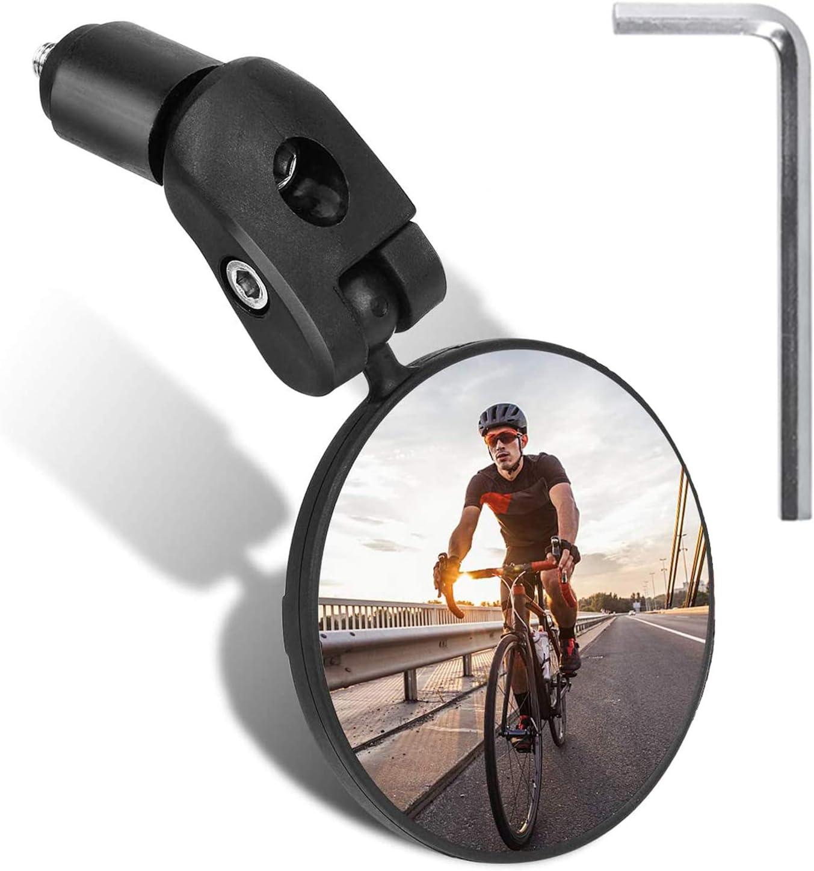 Handlebar Wide-angle Convex Mirror Cycling Rear View MTB Bike