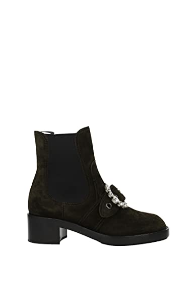 0f840e8a730c Miu Miu Ankle Boots Women - Suede (5T169BSCAMOSCIATO4) UK  Amazon.co.uk   Shoes   Bags