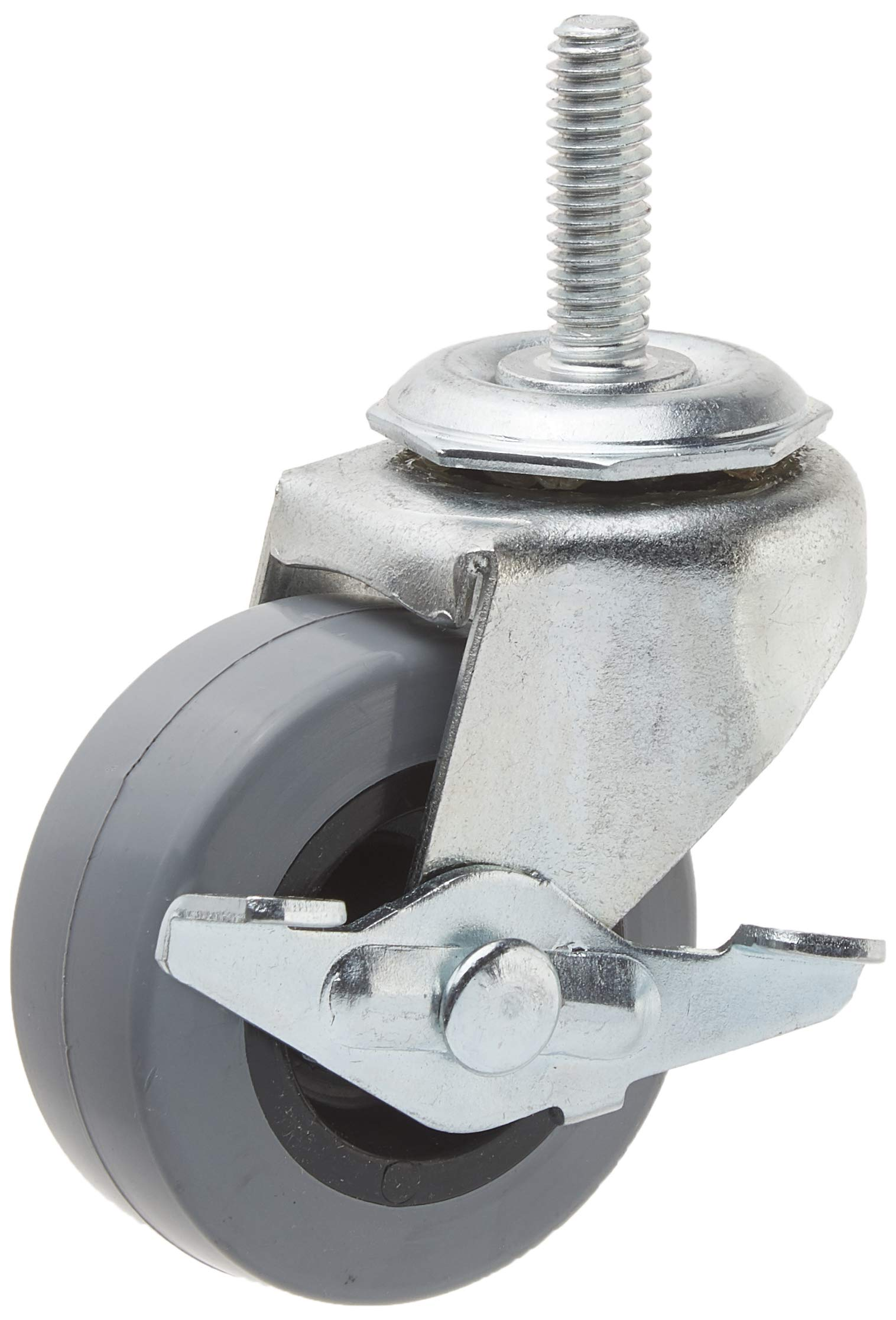 Service Caster PRE20507ZN-TPU-2-TPUB-2 Caster with 5/16'' Threaded Stem, Brake and Non-Marking Polyurethane Wheel, 2'' Size (Pack of 4) by Service Caster
