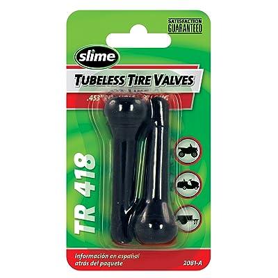 """Slime 2081-A Rubber Tire Valve Stems, 2"""" TR 418: Automotive"""