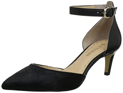 c66a62e54e Image Unavailable. Image not available for. Color: Enzo Angiolini Women's  Crystani5 Pump,Black/Black Pony,5.5 ...