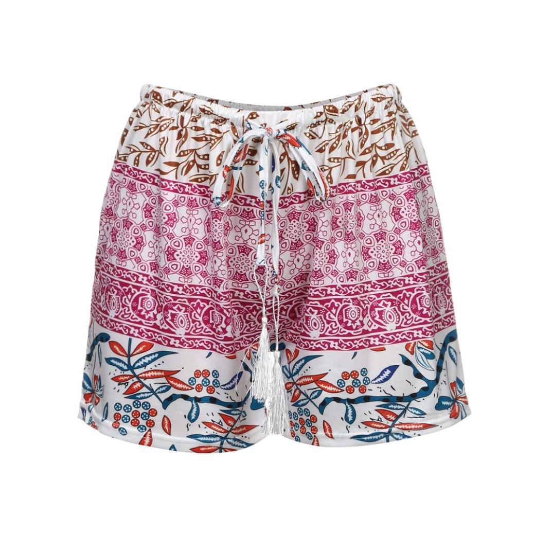 GoodLock Clearance!! Women Sexy Hot Pants Summer Casual Shorts High Waist Short Pants (Purple, X-Large)