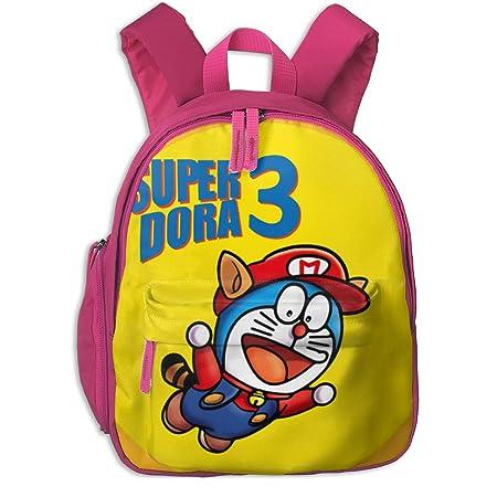 LUHONG Doraemon Mario Bros 3 Mashup Unisex Pupils Cartoon ...