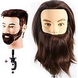 Testa Studio Manichini Maschio 100% Capelli Veri Parrucchiere Cosmetologia Formazione Manichino Pratica Modello Con Morsetto EHF0408W