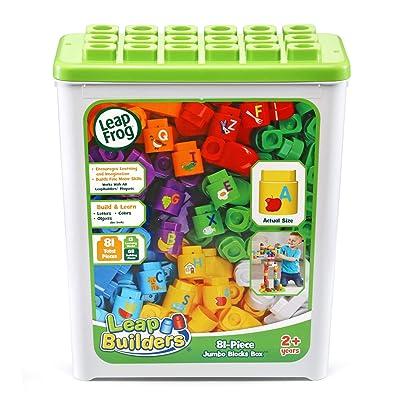 LeapFrog LeapBuilders 81-Piece Jumbo Blocks Box: Toys & Games