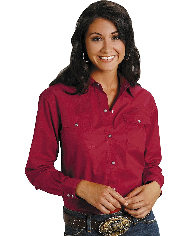Roper Women's Solid Poplin L/S Shirt 364D71