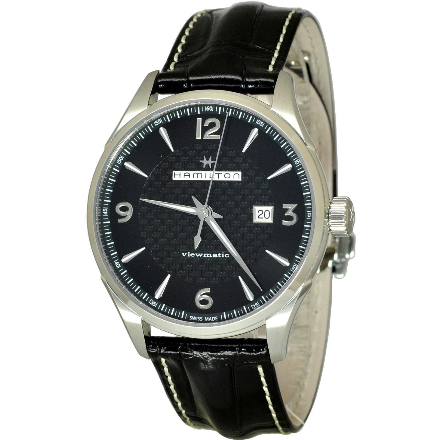 HAMILTON JAZZMASTER RELOJ DE HOMBRE AUTOMÁTICO 44MM CORREA DE CUERO H32755731: Amazon.es: Relojes