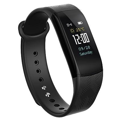 Reloj inteligente – Pulsera inteligente con podómetro, controlador de actividad cardiovascular, estanco, para