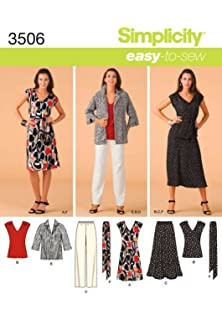 Simplicity 3506 BB - Patrones de costura para hacer ropa de mujer (tallas grandes)