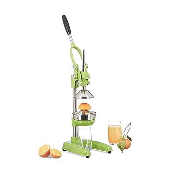 Compra Relaxdays exprimidor naranjas manual Z8, prensa profesional, en verde en Amazon.es