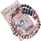Subherban Modern Aromatherapy Jewelry - Lava Rock Anxiety Bracelets - Handmade Jewelry - Gifts for Women
