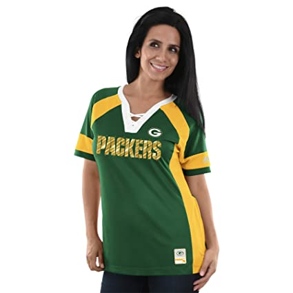 2a0e8b8c Majestic Athletic Green Bay Packers Draft Me Lace-Up Raglan Top