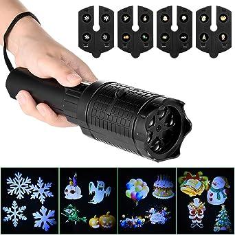 LEDGLE Luces Proyector Navidad LED Linterna para Niños Navidad ...