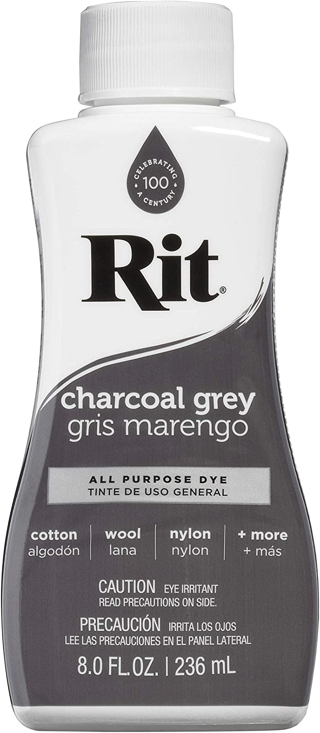 Rit Charcoal Grey Liquid Dye, 8 oz