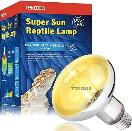 Amazon Com Tekizoo Uva Uvb Sun Lamp High Intensity Self Ballasted Heat Basking Mercury Vapor Lamp Light Bulb For Reptile And Amphibian Use 125w Pet Supplies