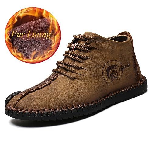 Botines de Invierno para Hombres Botines de Nieve Ligeros y Antideslizantes Calientes Botines de Forro de Piel para Exteriores: Amazon.es: Zapatos y ...