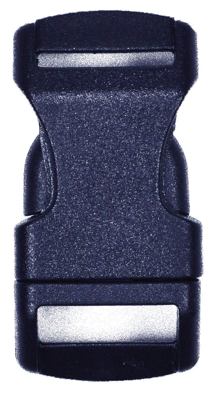 Bored Paracord 1/2'' Contoured Side Release Black Plastic Buckle – 10 Pack