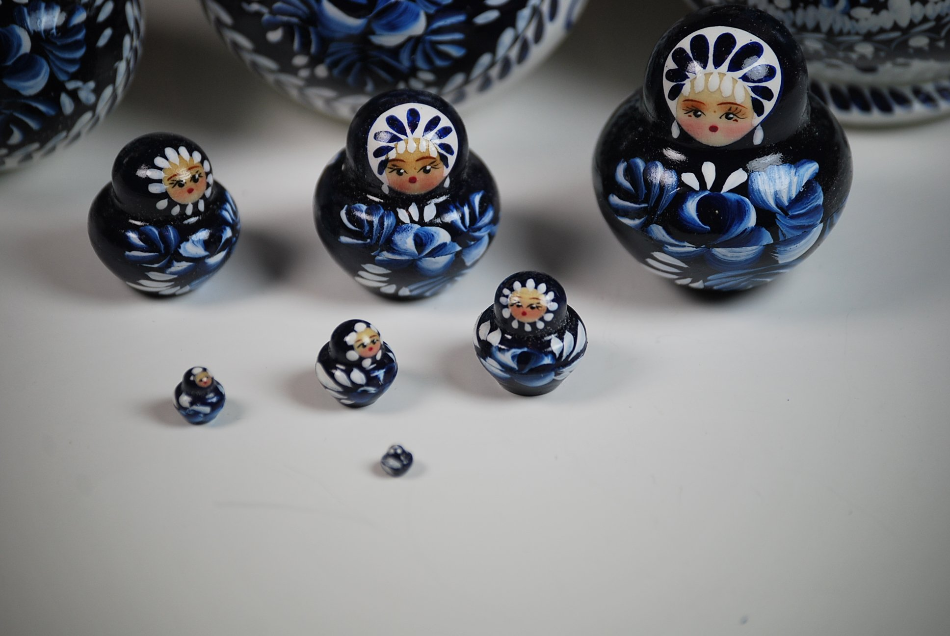 Unique Museum Quality Artist Signed Russian Hand Painted Nesting Dolls Set of 10 pcs Christmas Gift by Gabriella's Gifts (Image #4)