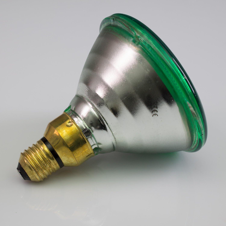 coloured replacement bulb for PAR-38 spotlights showking Illuminant PAR-38 230V green 3200K 80W for spotlights//base ES//E-27