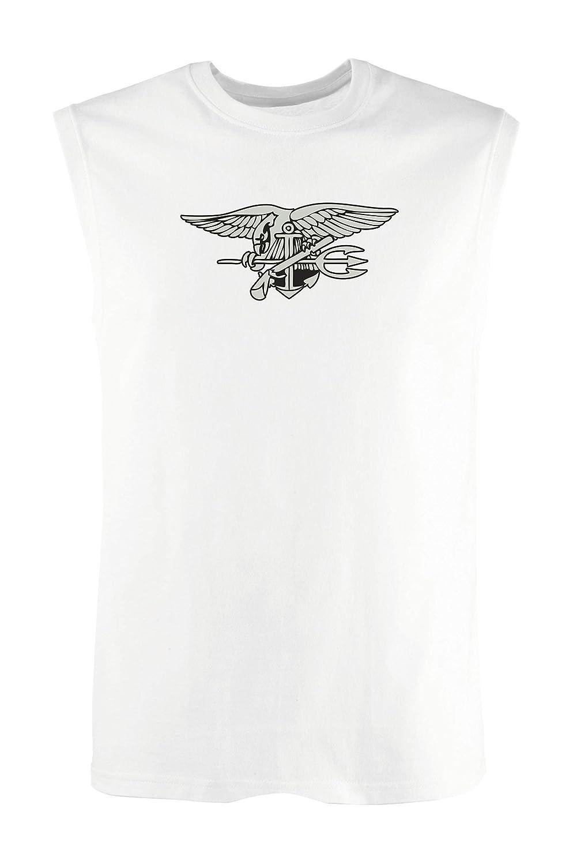 Singlete para los Hombre Blanco TM0382 Navy Seal USA
