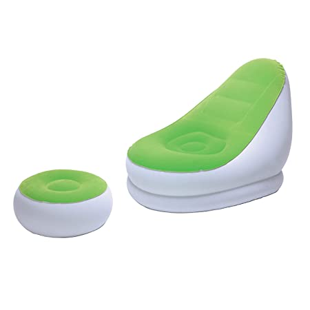 MovilCom® - Sillón con Puff reposapiés Hinchable Flocado ...