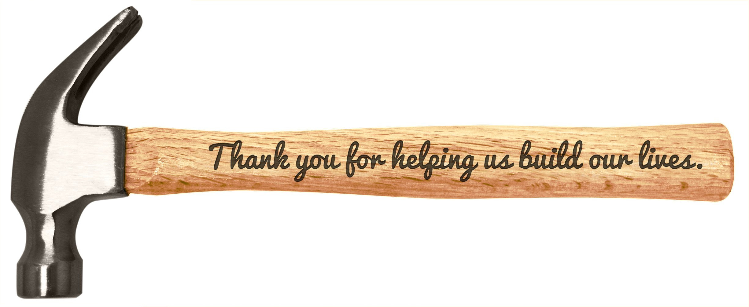 Christmas Gift for Dad Grandpa Uncle Thank You for Helping Us Build Our Lives Father's Day Gift for Dad or Grandpa Engraved Wood Handle Steel Hammer