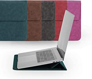 14 Inch Laptop Sleeve with Stand Case Compatible with 14 Dell HP, 15 Inch Surface Laptop 3,Waterproof Protective Case for HP Acer Dell Chromebook 14
