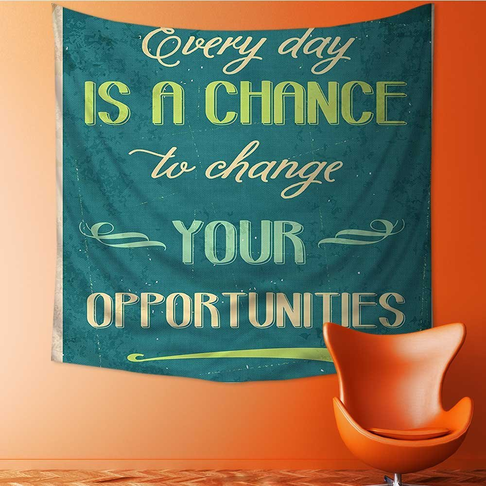 L-QN Tapestry Wall Hanging Every Day is a Chance to Change Your Opportunities Poster Print Home Decorations for Bedroom Dorm 32W x 32L Inch by L-QN