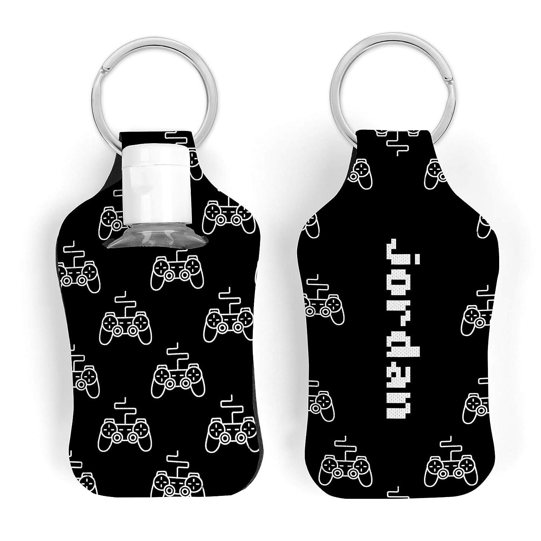 Black Game Controller Custom Hand Sanitizer Key Ring Holder with 30ml Bottle