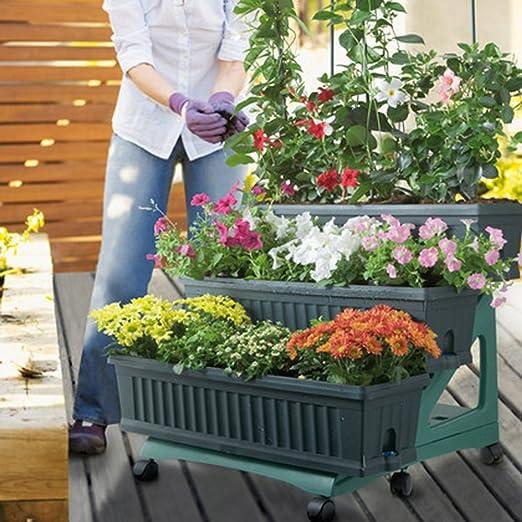 Bama orto 3 macetas de jardín (con Carro, 80 x 74 x 73 cm, Verde, 80x74x73 cm: Amazon.es: Jardín