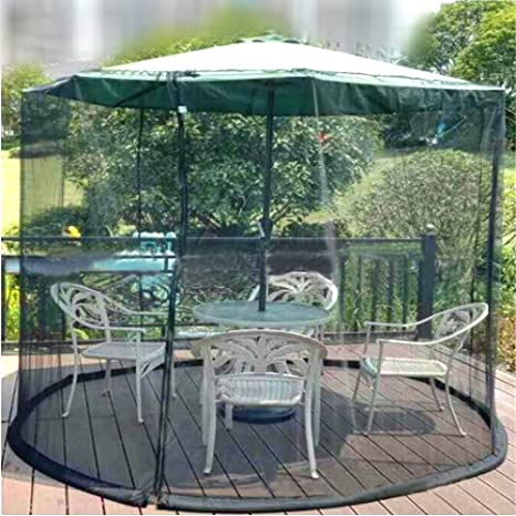 OriginA Mosquito Netting Patio Outdoor Umbrella Anti Insect Net For Patio  Tables, Military Green,