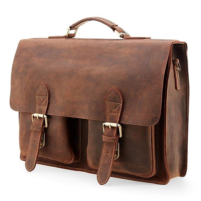 175f1b1c1789 Kattee Handmade Genuine Leather Satchel Bag 15