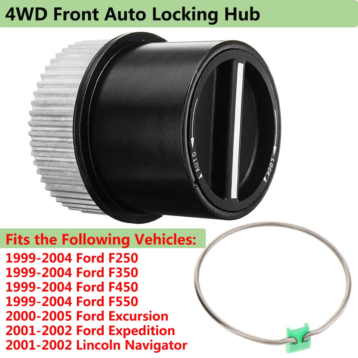 4WD Front Auto Locking Hub Link Front Left or Right,Fit for 1999-2004 Ford F250 F350 F450 F550 Super Duty,2000-2005 Excursion,2001-2002 Lincoln Navigator Expedition,Replaces 1C3Z-3B396-CB 1C3Z3B396CB