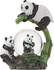 Elanze Designs Panda Bear Family Figurine 45MM Glitter Water Globe Decoration