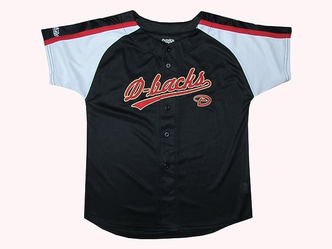 8fa5587e MLB Arizona Diamondbacks Boy's Colorblocked Buttondown Jersey, Black, ...