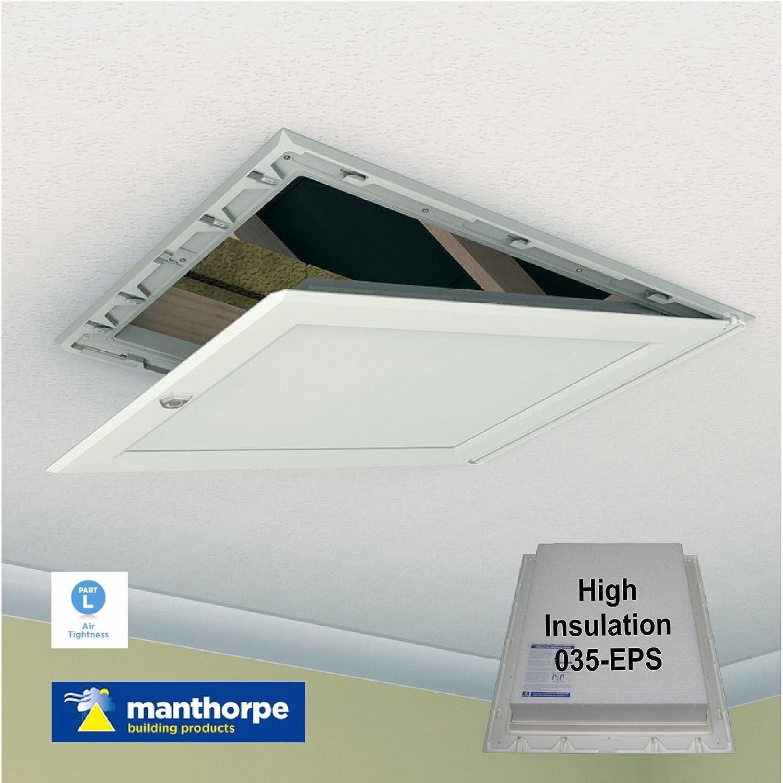 Manthorpe 035-EPS Highest Insulated White Loft Trap Door Hinged ...