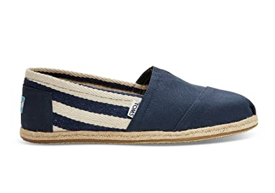 75b901b00 TOMS Mens University Navy/Red Stripe Espadrille: Amazon.co.uk: Shoes & Bags