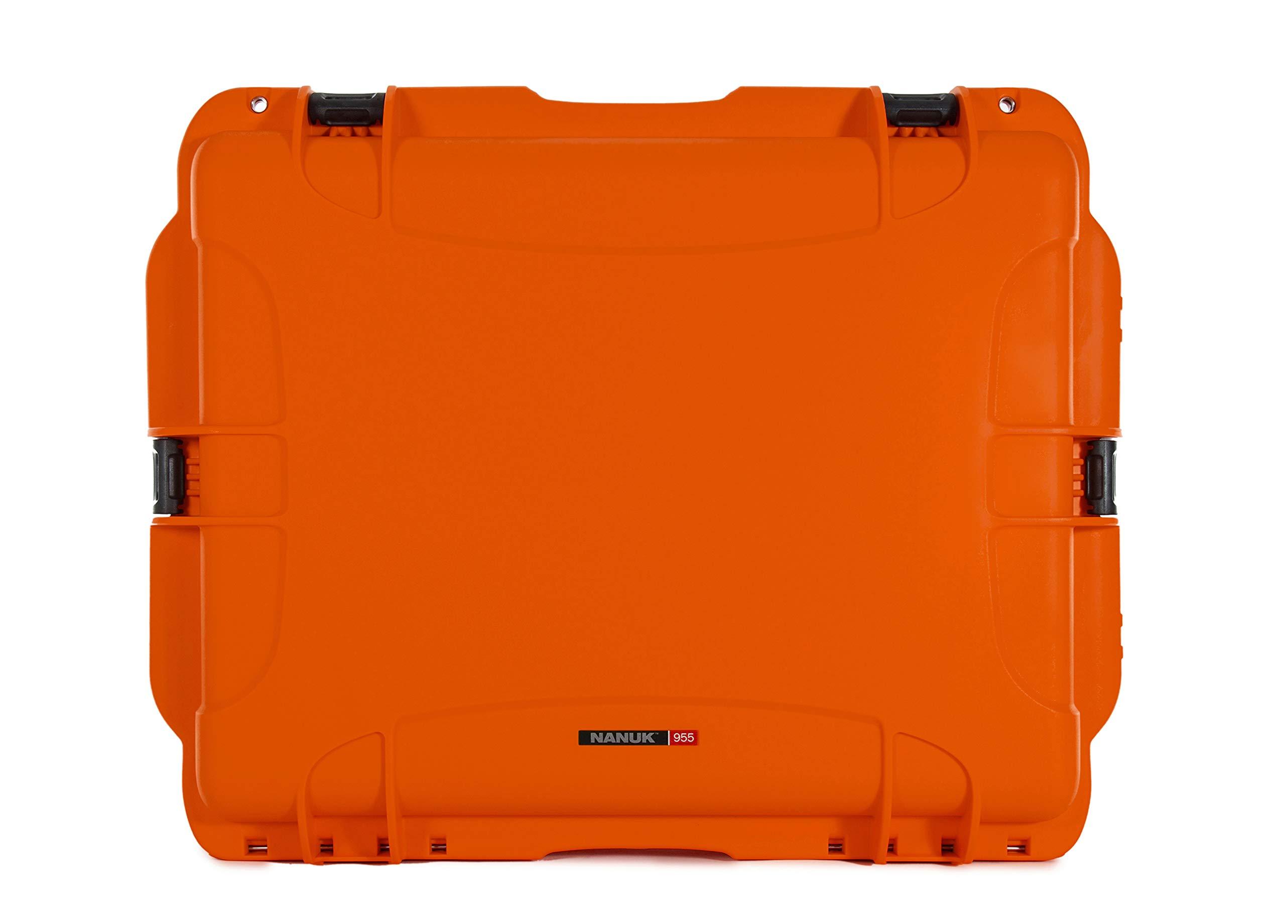 Nanuk 955 Waterproof Hard Case with Wheels and Foam Insert - Orange by Nanuk