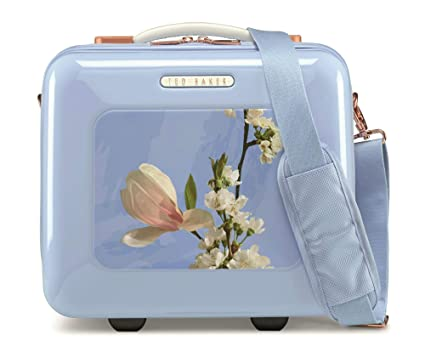 big sale e18b9 47d21 Ted Baker Take Flight Harmony Blue Vanity Case: Amazon.co.uk: Luggage