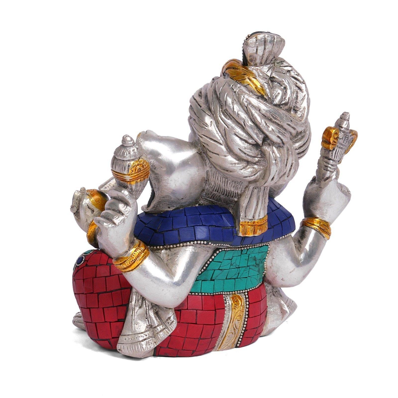 Safa Ganesh Statue Hindu God Figurine Brass Sculpture Ganesha Idol Home Decor Gift by CraftVatika (Image #3)
