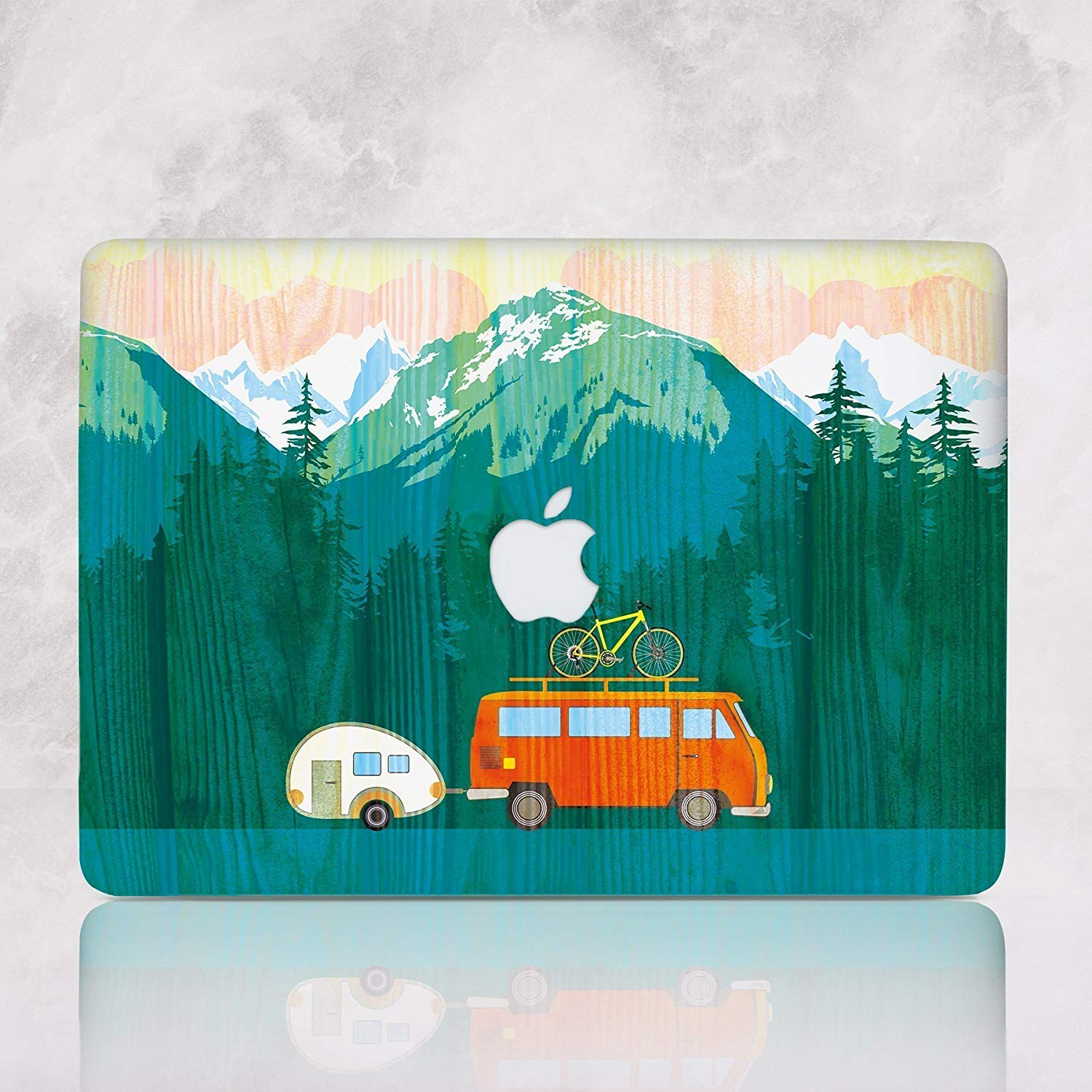 Like Wooden Hard Case for Macbook Pro 15 A1707 A1909 Love To Travel Mountains Laptop Case for Apple Mac Pro 15 inch Fits 2018 Latest Release Durable shell Cover RD2125