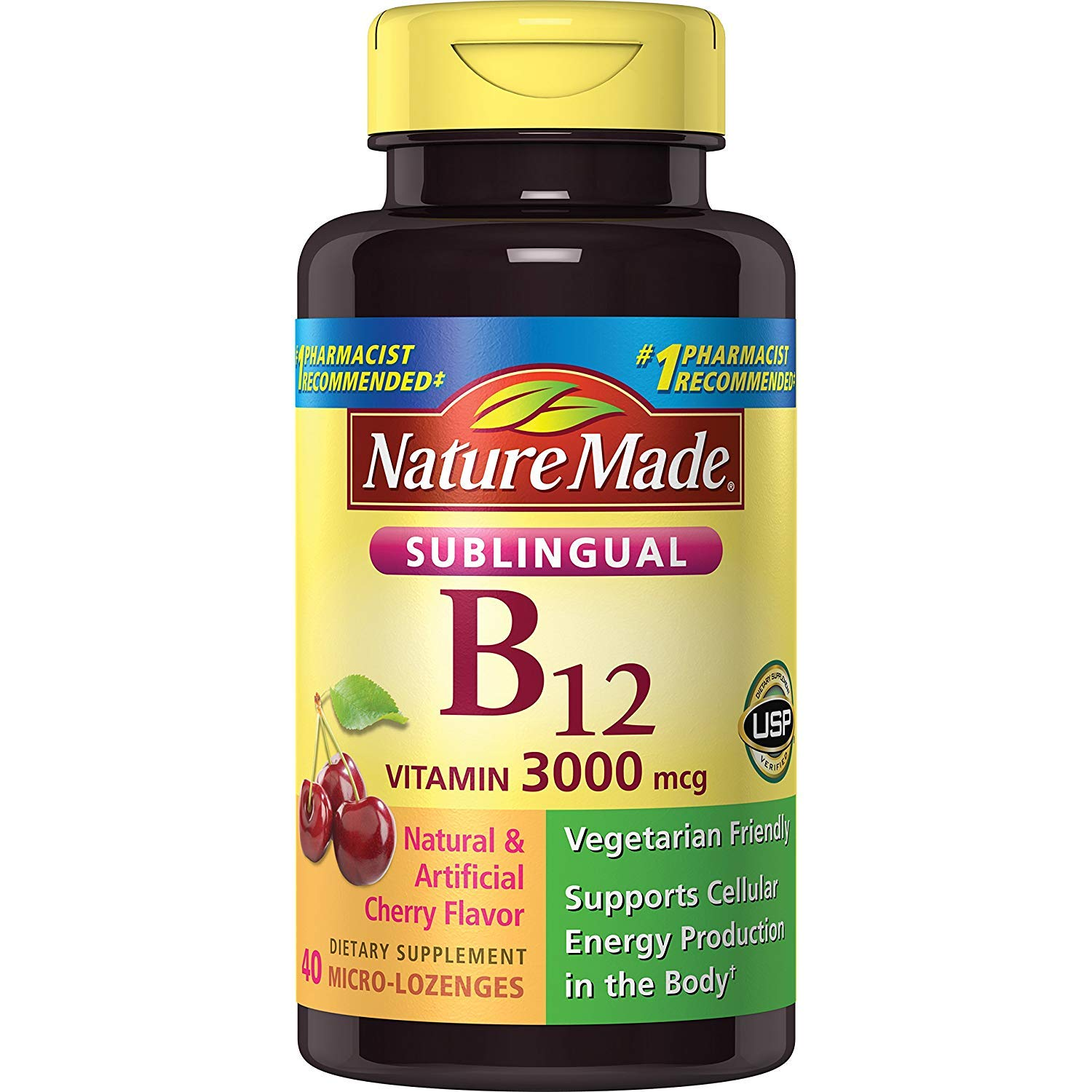 Nature Made Vitamin B-12 3000 MCG Sublingual 40 Count (Pack of 4)