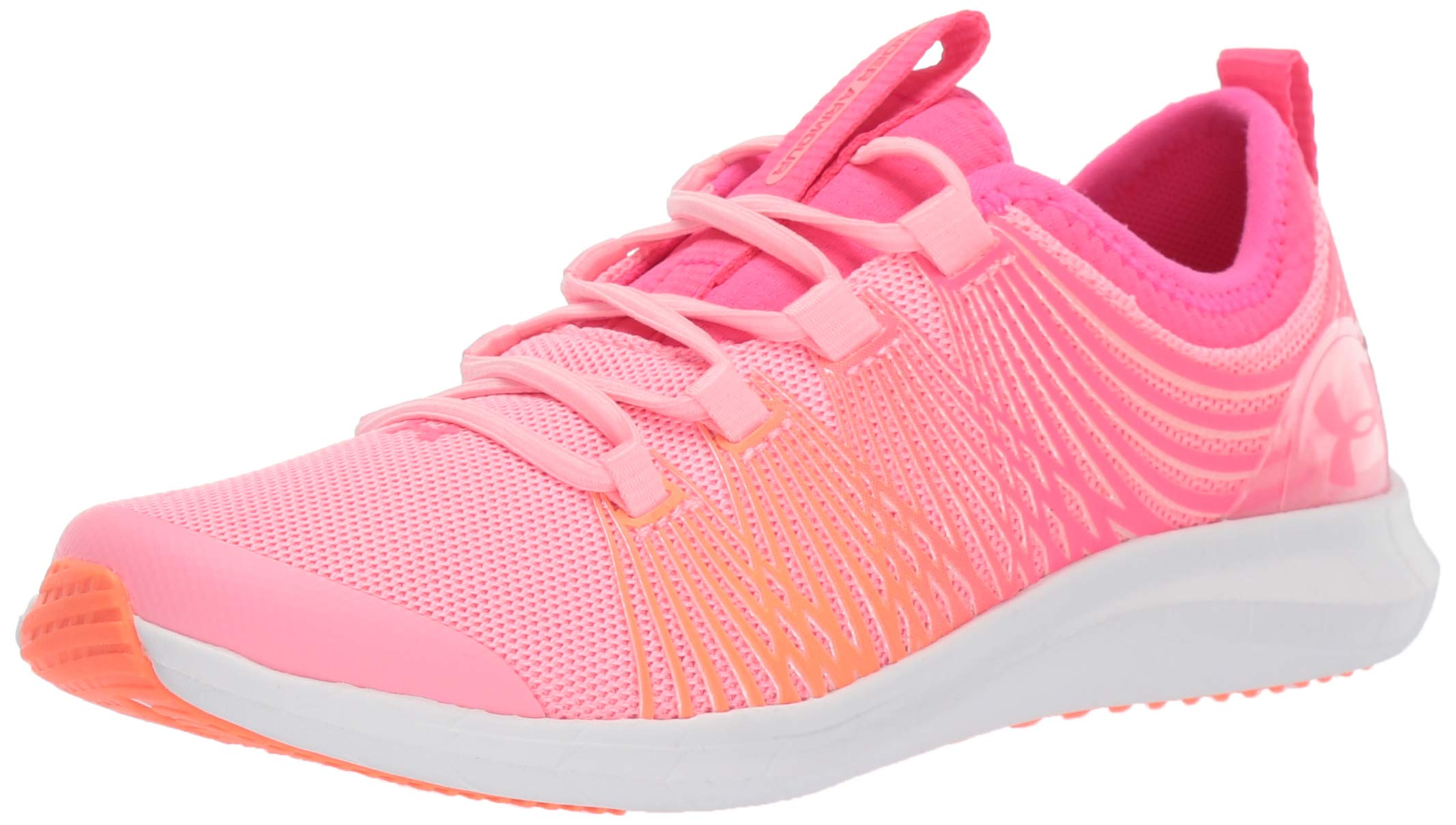 Under Armour Unisex Pre School Infinity 2 Alternate Lace Sneaker, Pop Pink (600)/Pinkadelic, 2.5 M US Little Kid
