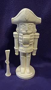 "Cascanueces soldado 15 ""listo para pintar cerámica crema"